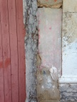 Textural walls and peeling paint