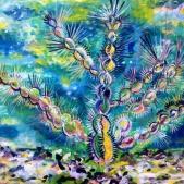 Cactus celebration - acrylic on canvas